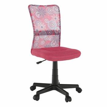Otočná stolička, ružová/vzor/čierna, GOFY