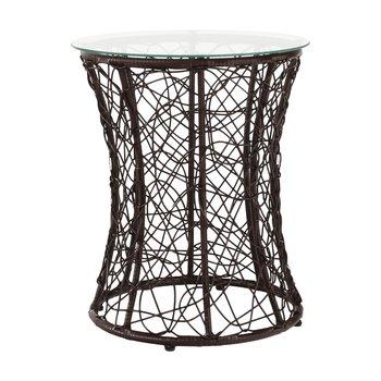 Príručný stolík, hnedá, SALMAR NEW