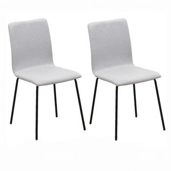 2 kusy, jedálenská stolička, svetlosivá/čierna, RENITA