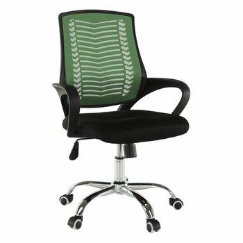 Kancelárske kreslo, zelená/čierna/chróm, IMELA TYP 2