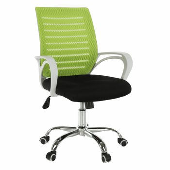 Kancelárske kreslo, zelená/čierna/biela/chróm, OZELA