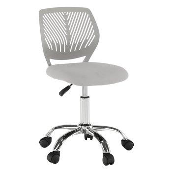 Otočná stolička, sivá/chróm, SELVA