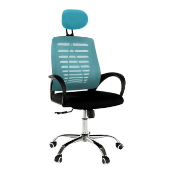 Kancelárske kreslo, modrá/čierna, ELMAS