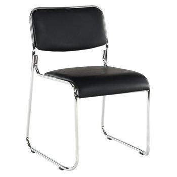 Zasadacia stolička, čierna ekokoža, BULUT