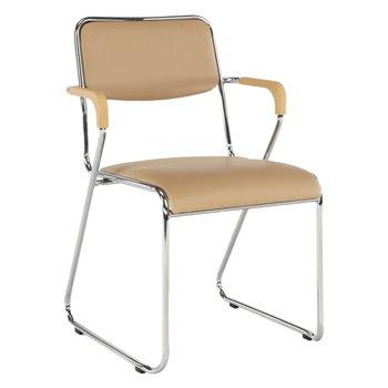 Zasadacia stolička, hnedá ekokoža, DERYA