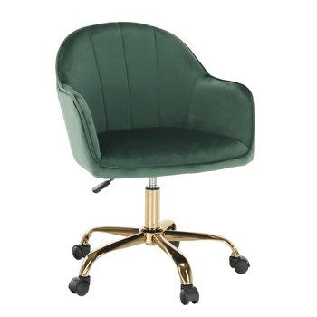 Kancelárske kreslo, Velvet látka zelená/zlatá, EROL