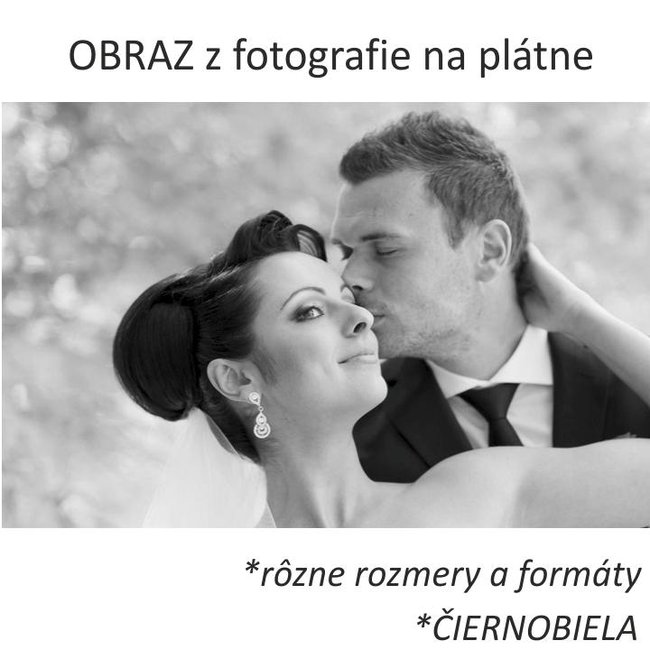 Obraz z fotografie, čierno-biely, rôzne rozmery