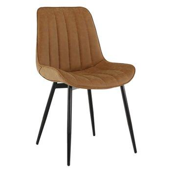 Stolička, hnedá camel/čierna, HAZAL
