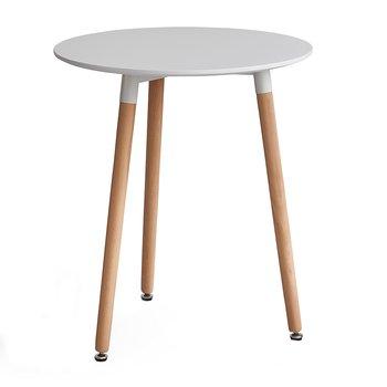 Jedálenský stôl, biela/buk, ELCAN 60