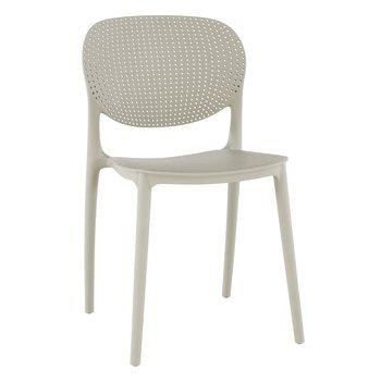 Stohovateľná stolička, sivá, FEDRA