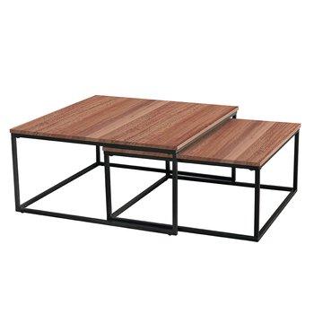 Set dvoch konferenčných stolíkov, orech/čierna, KASTLER TYP 1