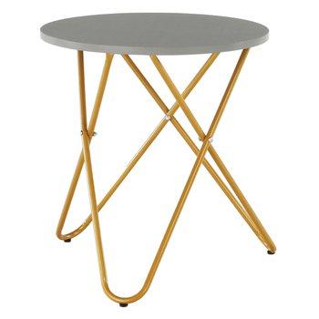 Príručný stolík, sivá/zlatý náter, RONDEL