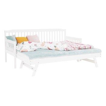 Detská rozkladacia posteľ sprístelkou, biela, masív, PEDREZA