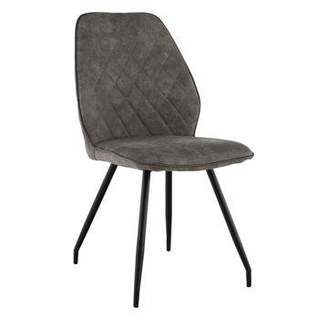 Jedálenská stolička, sivohnedá látka s efektom brúsenej kože, HERDA