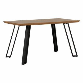 Jedálenský stôl, dub/čierna, PEDAL