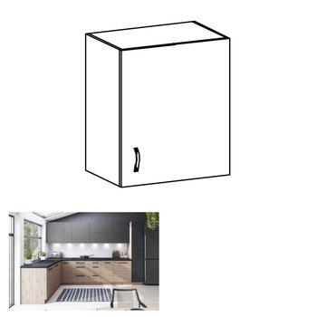 Horná skrinka, dub artisan/sivý mat, pravá, LANGEN G60