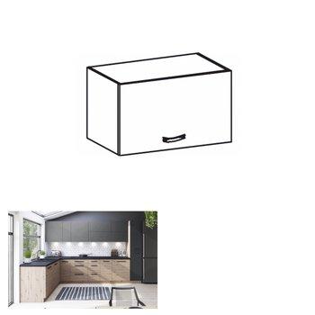Horná skrinka, dub artisan/sivý mat, LANGEN N60