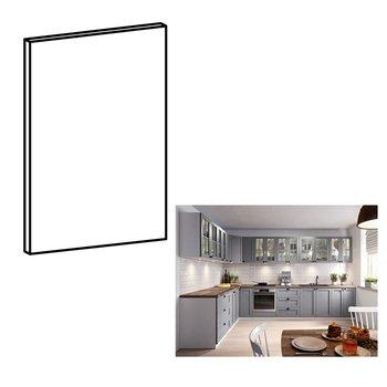Dvierka na umývačku riadu, sivá matná, 59,6x57, LAYLA