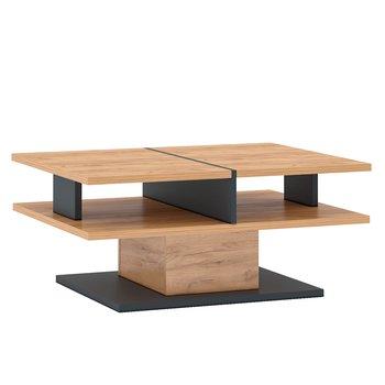 Konferenčný stolík T, dub craft zlatý/grafit sivá, FIDEL