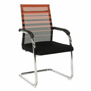Zasadacia stolička, oranžová/čierna, ESIN