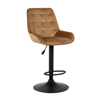 Barová stolička, hnedá Velvet látka, CHIRO