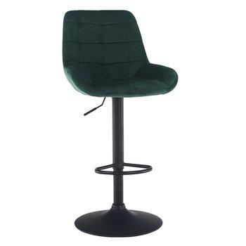 Barová stolička, tmavozelená Velvet látka, CHIRO