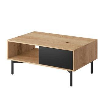 Konferenčný stolík FL 102, dub artisan/čierna, FORSO