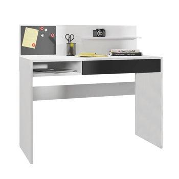 PC stôl s magnetickou tabuľou, biela/čierna, IMAN