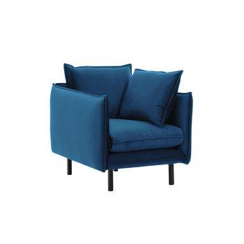 Luxusné kreslo, parížska modrá, VINSON 1