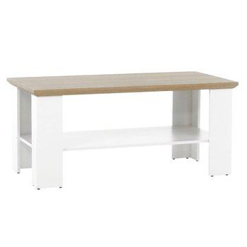 Konferenčný stolík MZ17, biela/dub grand, LEON