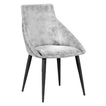Jedálenská stolička, svetlosivá/čierna, DARAY