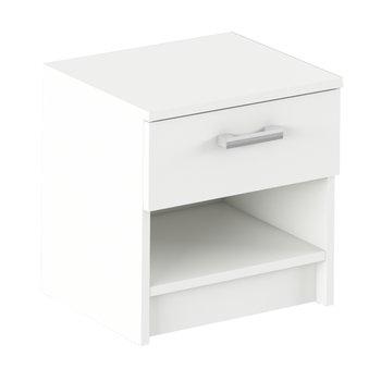 Nočný stolík, biela, ALEXIA