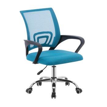Kancelárska stolička, tyrkysová/čierna, DEX 2 NEW