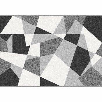Koberec, čierna/sivá/biela, 67x120, SANAR