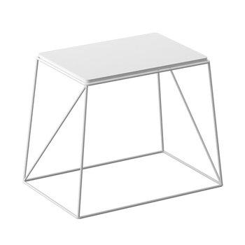 Príručný stolík, biela, KAREL - tovar 2.triedy