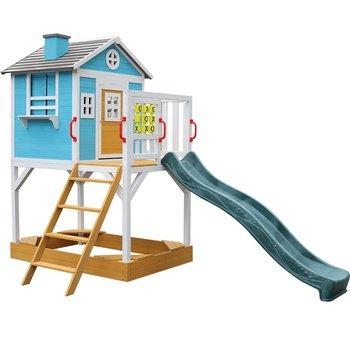 Drevený záhradný domček pre deti so šmykľavkou a pieskoviskom, PORTIO