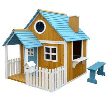Drevený záhradný domček s lavičkou, verandou a poštovou schránkou, BULEN