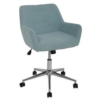 Kancelárske kreslo, svetlomodrá/chróm, JACKIE