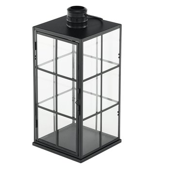 Lampáš-svietnik, čierna, ELIJAR TYP 2