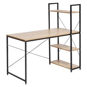 PC stôl/viacúčelový praktický stôl, dub/čierna, VEINA