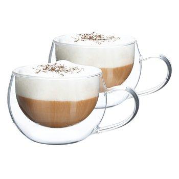 Termo poháre, set 2 ks, šálka na cappuccino, 280 ml, HOTCOOL TYP 1