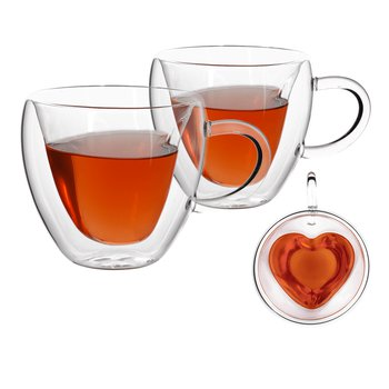 Termo poháre, set 2 ks, šálka Heart v tvare srdca, 250 ml, HOTCOOL TYP 3