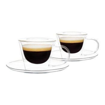 Termo poháre, set 2 ks, šálka na espresso s podšálkami, 80 ml, HOTCOOL TYP 4
