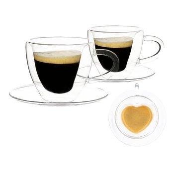Termo pohár šálka Heart s podšálkami, 2ks, v tvare srdca, 150ml, HOTCOOL TYP 5