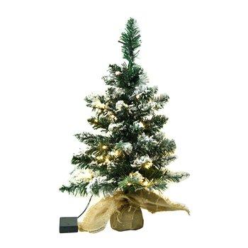 Vianočný stromček so svetielkami, posnežený, 60 cm, CHRISTMAS TYP 1