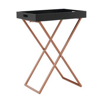 Servírovací stolík, čierna/meď, MASINO