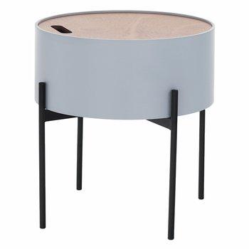 Príručný stolík, sivá/prírodná/čierna, MOSAI