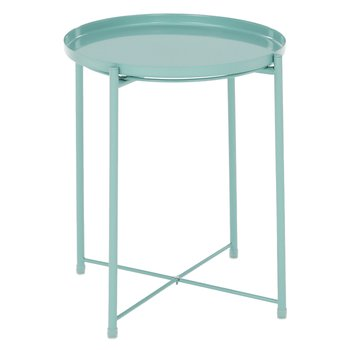 Príručný stolík s odnímateľnou táckou, neo mint, TRIDER