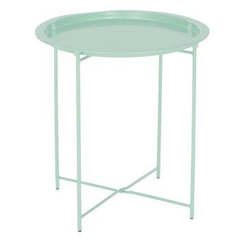 Príručný stolík s odnímateľnou táckou, neo mint, RENDER