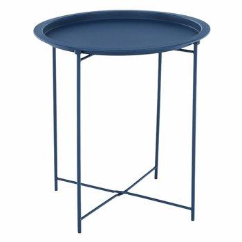 Príručný stolík s odnímateľnou táckou, tmavomodrá, RENDER